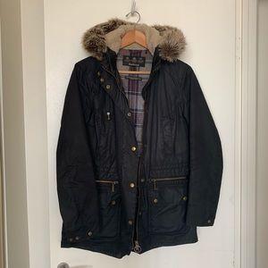 Barbour waxed cotton water proof coat winter coat
